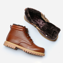 Full Grain Leather Men Winter Boots Size 36~48 Handmade Hecrafted Brand Winter Men Shoes #CX5086 цена