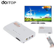 DOITOP DVB-T2 DVB-T TV Box Tuner AV to HDMI HDTV AV CVBS 1080P HD TV Satellite Receiver With Remote Control (without VGA) A3