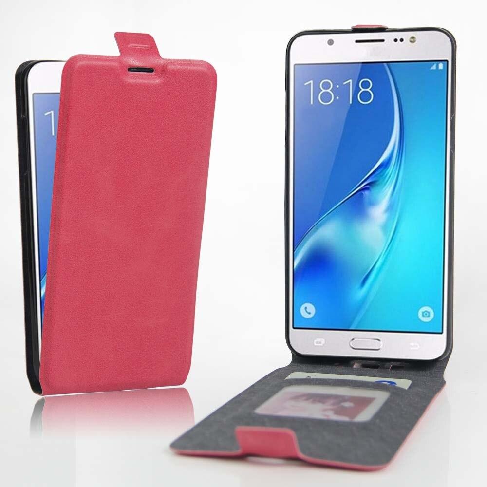 Nuevo teléfono móvil de cuero case para samsung galaxy j7 () j7108 5.5 ''luxury