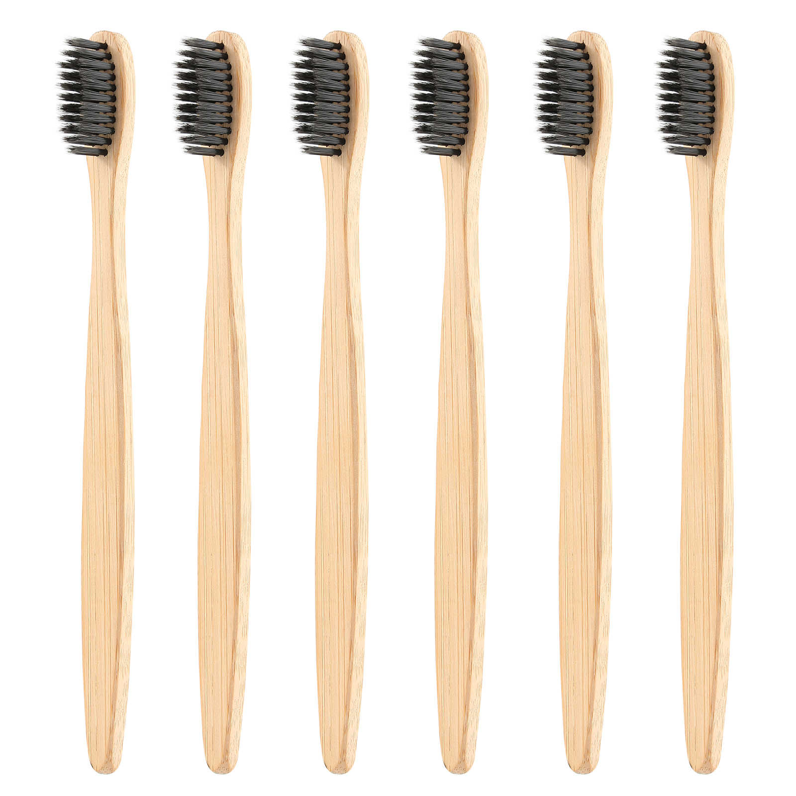 2/1 Pcs Lingkungan Bambu Arang Kesehatan Sikat Gigi untuk Perawatan Mulut Gigi Membersihkan Eco Sedang Lembut Bulu Sikat