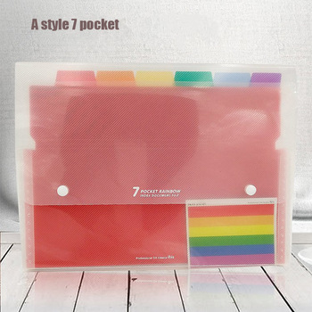 13/24/37 Layer Organ Bag File Holder A4 Document Bag Rainbow Classification Test Papers Tool Business Expanding File Folders 1