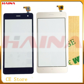 10pcs/lot B/W/G color phome touchscreen For wiko jerry 2 Sensor Touch Screen Digitizer Front Glass Sensor With 3M Tape