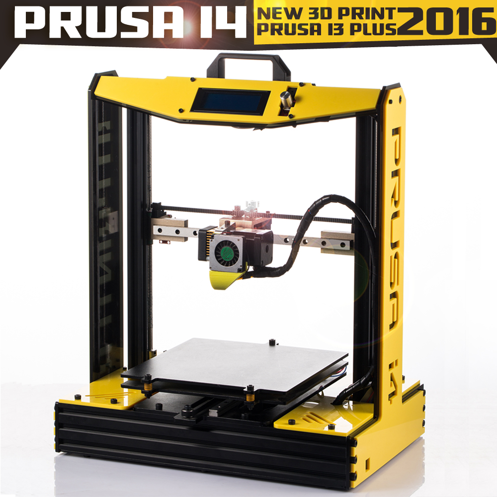 2016 Big Size High Quatity Precision Prusa i4 3D Printer Kit With 2 Rolls Filament + SD Card For Free super mini 3d printer support usb or sd card connection createbot smallest 3d printer only 3kg net weight high quality for sale