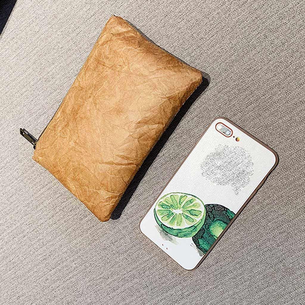 Muqgew Nữ Thời Trang Chống Thấm Nước Túi Điện Thoại Di Động Clutch Ví Túi Đựng Mỹ Phẩm Giấy Kraft Túi Đựng Mỹ Phẩm Hình Chữ Nhật Ly Hợp
