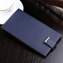 WilliamPOLO Credit Card Holder Ultrathin Men Wallet Long Clutch Genuine Leather Bifold Multi Card Case Purse Snap Fastener 2018(China)