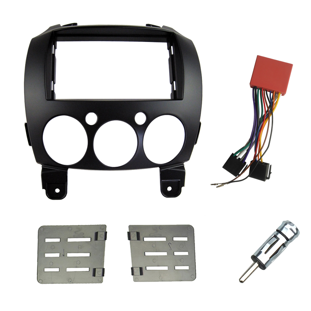 Double Din Car Install Kit Harness For Mazda 2 Demio 2007  Dash Kit Facia Radio Stereo Cd Panel