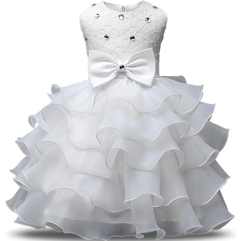 Flor de Los Niños Vestidos de Princesa 2017 Nuevo Vestido de Las Muchachas para