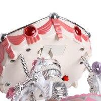 2018 новый карусель музыкальная шкатулка карусели музыкальных играет игрушка в подарок малыш свадебный декор дома