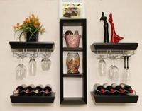 Wine rack hanging European restaurant wall wine. Hanging wall red wine.