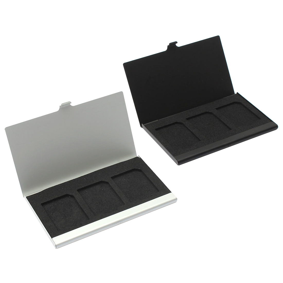 Aluminum Alloy Memory Card Case Card Box Holders For 3PCS SD Cards