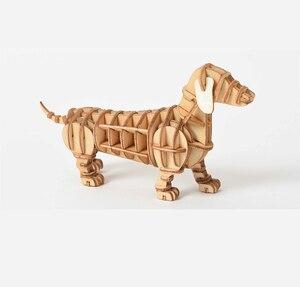 Image 3 - Laser Schneiden DIY Tier Katze Hund Panda Spielzeug 3D Holz Puzzle Spielzeug Montage Modell Holz Handwerk Kits Schreibtisch Dekoration für kinder Kid