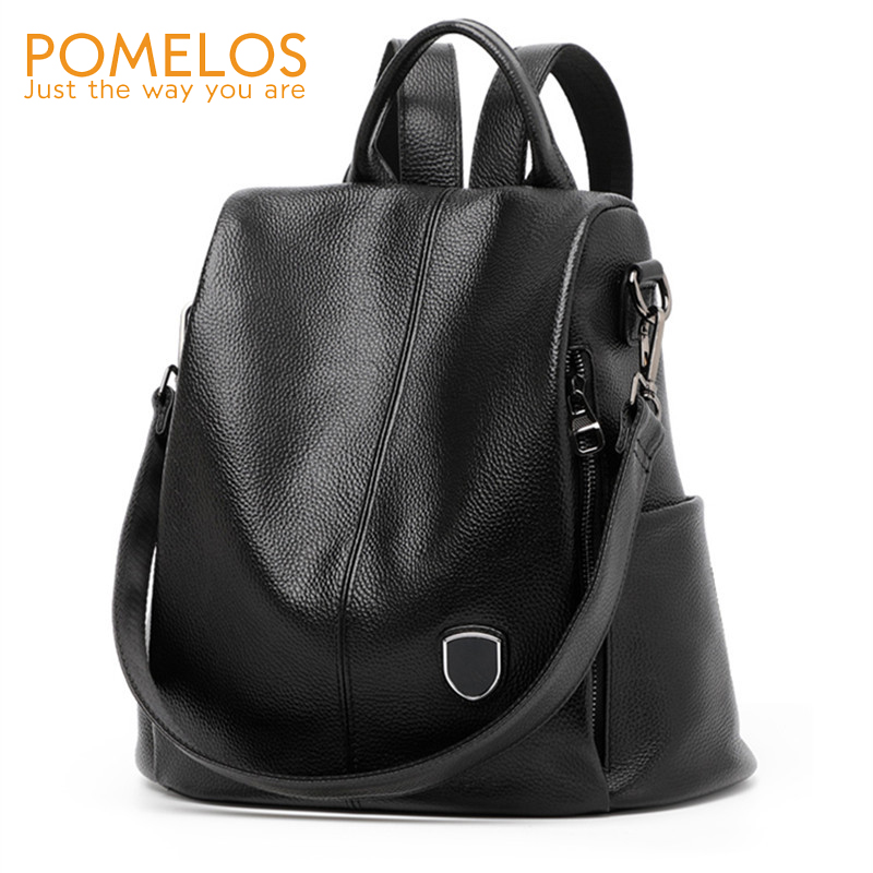 POMELOS Backpack Women 2018 New Arrival Fashion Women Backpacks Genuine Leather Backpack Anti Theft School Bag For Teenage Girls chu jj new arrival genuine leather women backpacks fashion backpacks for girls casual travel women school bag