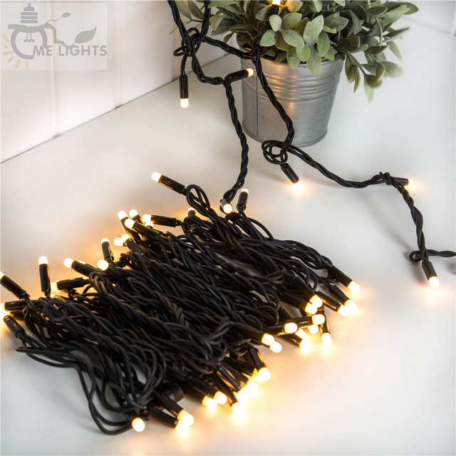 10M Heavy Duty Cable LED outdoor string lights with Waterproof Connectable  Antifreeze for holiday party Christmas Decoration - 10M Heavy Duty Cable LED Outdoor String Lights With Waterproof