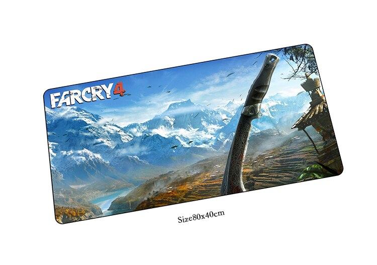 Far Cry коврик для мыши 800x400x2 мм коврик для мыши Notbook коврик для компьютерной мышки Закрытая край игровой padmouse геймер к 80x40 см коврики для мыши