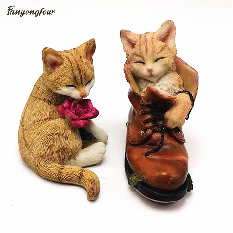 3D Leather Shoes Cat Silicone Mold DIY Chocolate Candy Pudding Silicone Mold Candle Gypsum Soap Mold Cake Decoration Tools