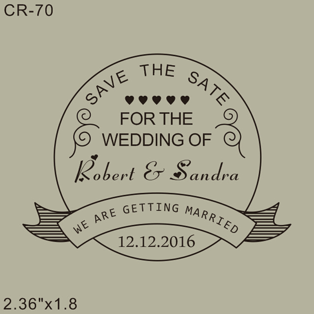 Free Shipping Custom Save The Date Stamp 236x18 We Are Getting
