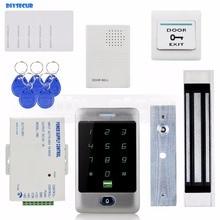 DIYSECUR 125KHz RFID Reader Password Keypad + 180kg 350lb Magnetic Lock + Door Bell Door Access Control Security System Kit