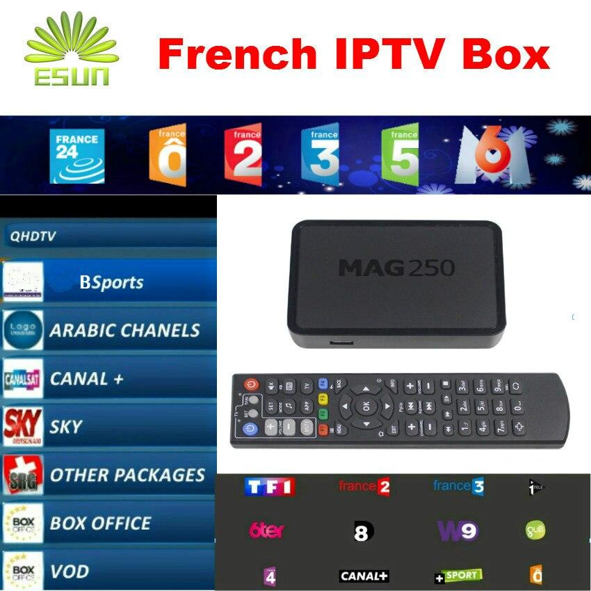 ФОТО ESUN-TV Mag250 With 1 Year IPTV French Belgium IPTV box Arabic IPTV box Linux System IPTV box MAG254 Better than Neotv QHDTV