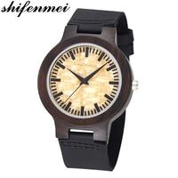 relogio masculino Engraved Wood Watches Groomsmen Personalized Watch Father's Anniversary Gift for Men erkek kol saati watche