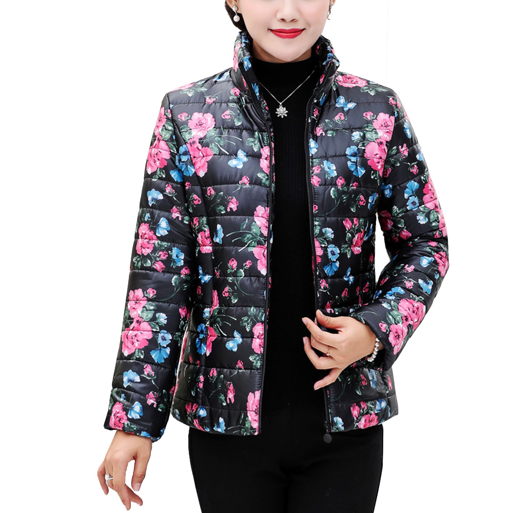 Parkas   Women 2018 Winter Warm Ladies Coats Plus Size XL~5XXXXXL Floral Print Female Casaco Feminino Jaqueta Winter Jacket Women