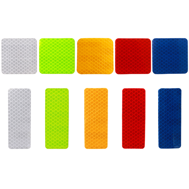 High Visibility Bicycles Decoration Patch Motorcycle Warning Safety Reflective film Car Stickers Night Conspicuity Tape 2 quot 2 quot in Car Stickers from Automobiles amp Motorcycles