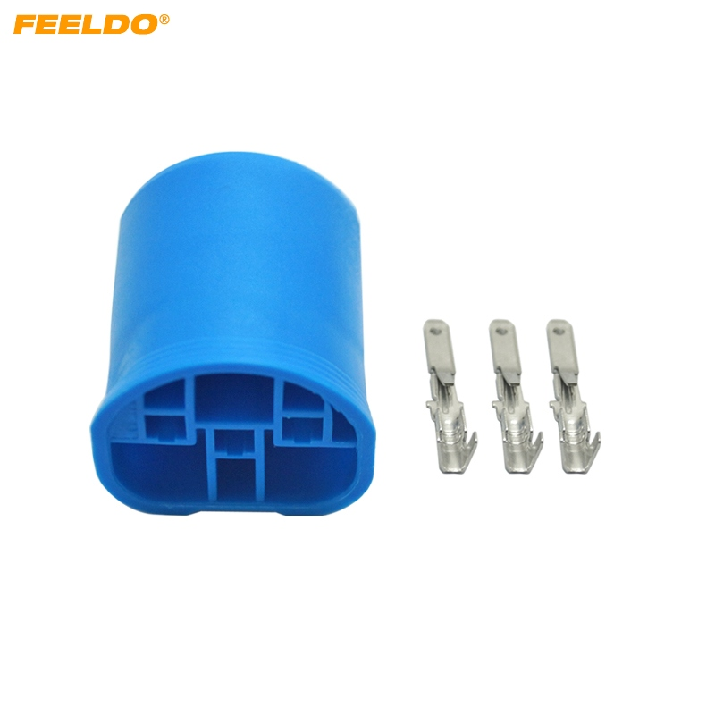 FEELDO 1PC Car Motorcycle 9004/HB1/9007/HB5 Bulb DIY Male Quick Adapter Connector Terminals Plug #AM4655