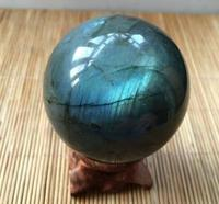 Natural Labradorite Crystal Sphere Ball Madagascar