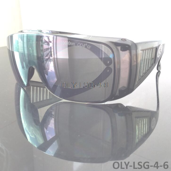ФОТО Co2 laser safety goggle with O.D 4+ CE marked, suitable to wear prescription glasses inside