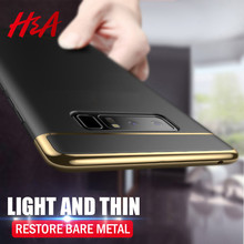 Samsung Note 8 S7 Edge H&A Luxury Plating Phone Case For Samsung Galaxy S9 S7 S8 Plus Full Cover Protective Case