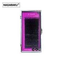 NAGARAKU L Curl 7 15mm MIX 20rows Case Mink Eyelash Extension L Curl Individual Eyelashes L