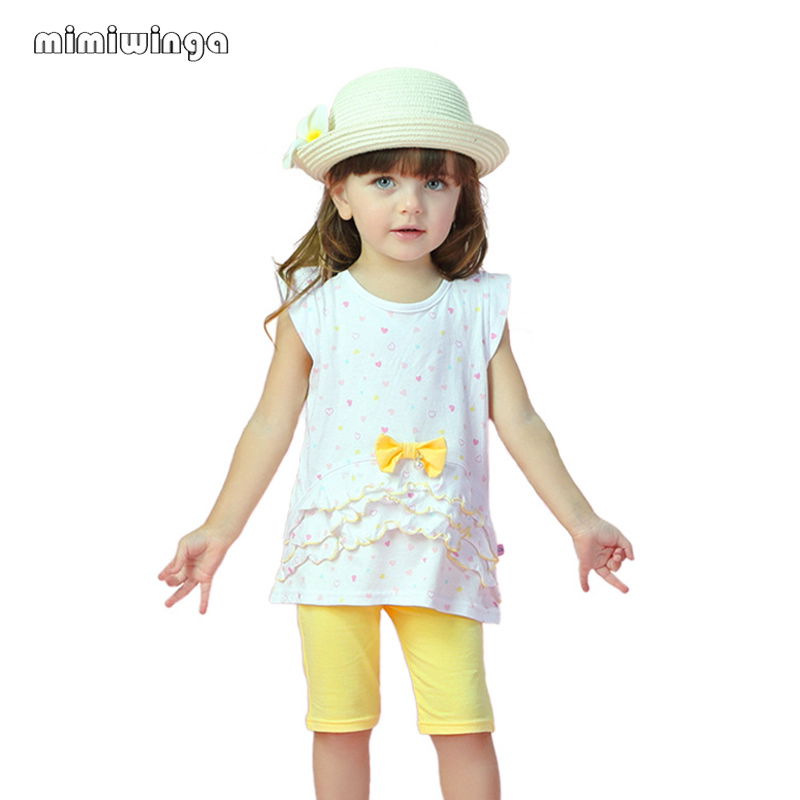 Mimiwinga Summer time Child Garments 2 Piece Set Woman T Shirts Shorts 1-Three Years Informal Youngsters Kids Clothes Clothes Units, Low cost Clothes Units, Mimiwinga Summer time Child Garments...