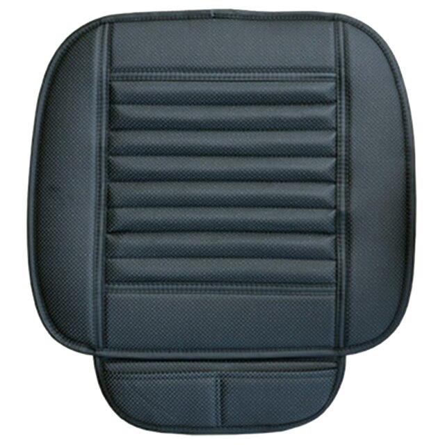 Автомобиль бамбуковый уголь кожа сиденье подушки дышащий терапии чехлы для стульев Pad, черный