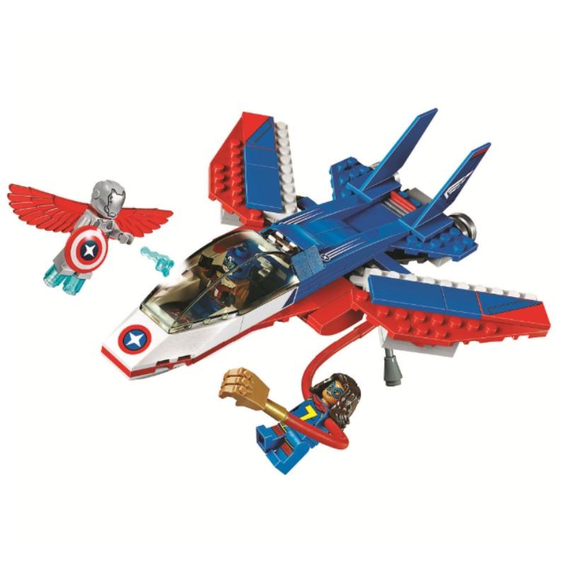 Batman Super Heroes Captain America Jet Pursuit Building Blocks Bricks Movie Model Kids Toys Sermoido Marvel