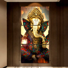 Canvas HD Print Painting Popular Wall Indian Elephant Lord Ganesha God Modular Picture Poster For Living Room Home Decor