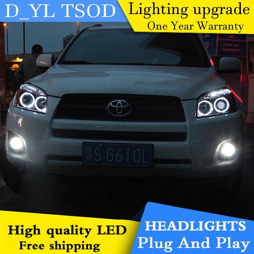 Free shopping car Styling Head lamp for Toyota RAV4 2009 2012 LED Headlight DRL H7 D2H