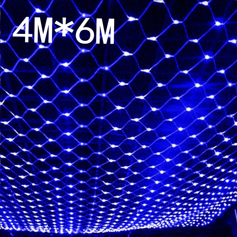 Waterproof 4m*6m net led christmas led net lights fairy lights mesh nets fairy lights Outdoor garden new year wedding holiday solar powered led outdoor string lights 6m 30leds crystal ball globe fairy strip lights for outside garden party holiday