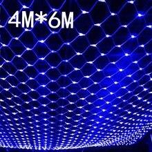 Impermeabile 4m * 6m net led di natale ha condotto le luci nette luci leggiadramente reti a maglia luci leggiadramente Esterna giardino nuovo anno di festa di nozze