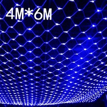 Waterproof 4m 6m net led font b christmas b font led net lights fairy lights mesh