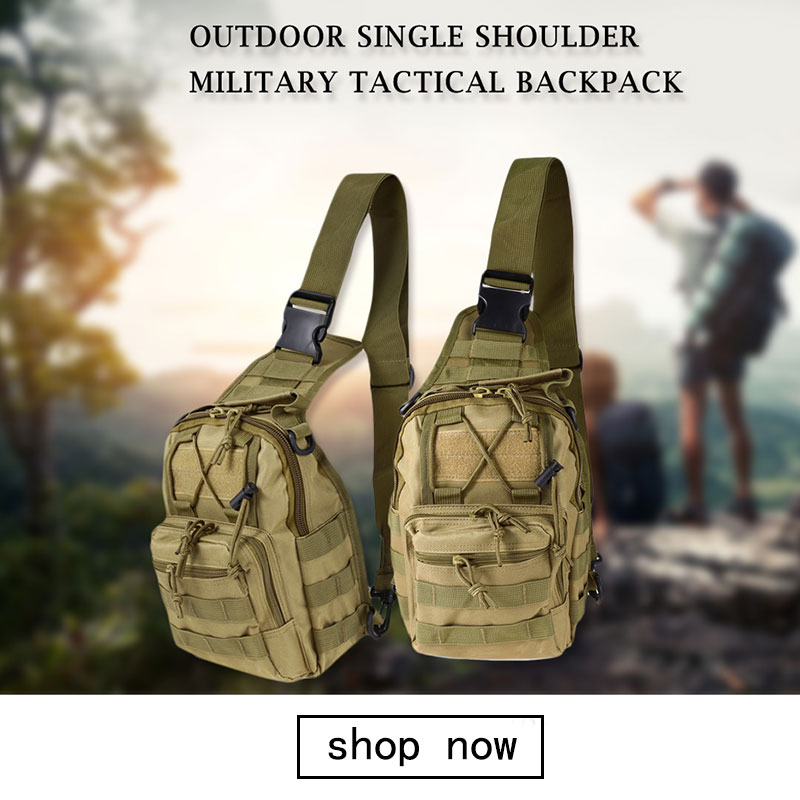 Mounchain Men Hiking Climbing Military Travel Waist Bag Outdoor Sports Cross Body Bags Chest Bag Sports & Entertainment Climbing Bags