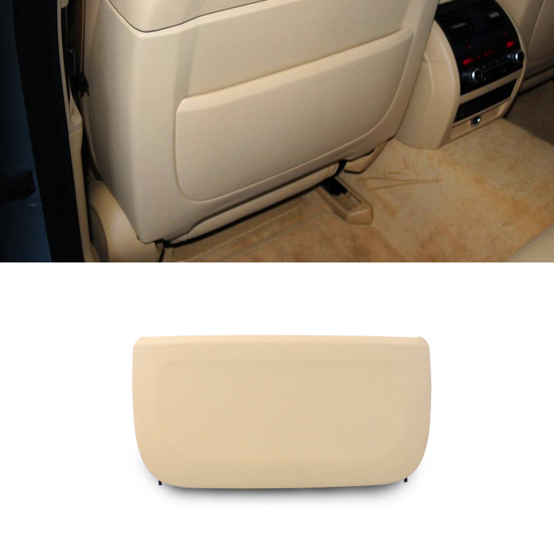 LHD RHD Beige Car Seat Back Backrest Panel Part Genuine Leather Cover Replacement For BMW F10 F11 F01 F02 5 Series GT & 7 Series