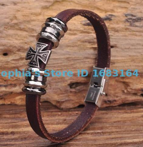 G148 Brown Leather Cross...