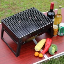 Outdoor barbecue stove portable set charcoal barbecue stove domestic folding bbq grill