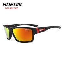 e0333d0546495 Kdeam 2017 verão óculos de sol dos homens polarizados hd polaroid lens  exercício Óculos de sol Óculos de Proteção Com a Marca Ca.