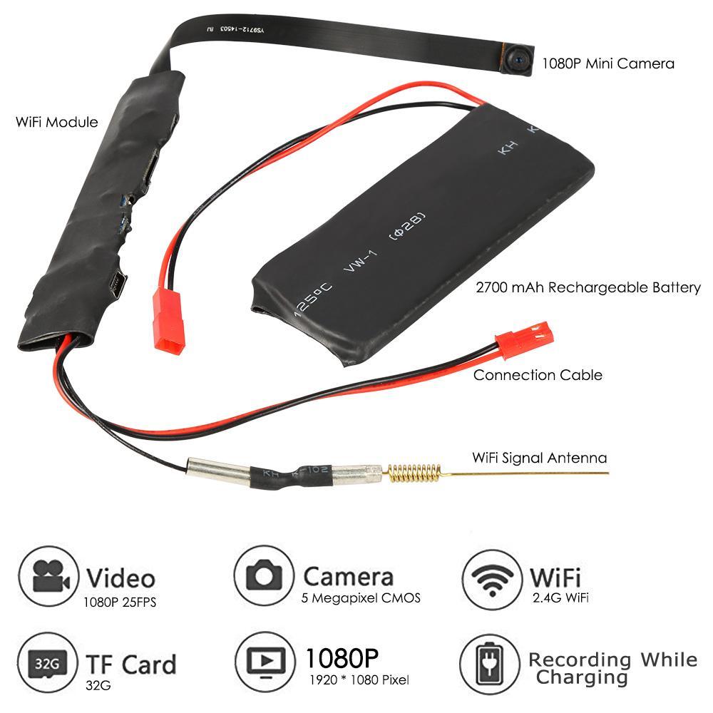 DIY WiFi Camera HD1080P Mini P2P Camera Video Geluidsopname - Camera en foto