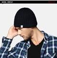 EMS Envío Libre Capsula Los Sombreros de Los Hombres Oscuros Colores De la Gorrita Tejida de Lana Con Punto KM-1180 Regalos De Vacaciones