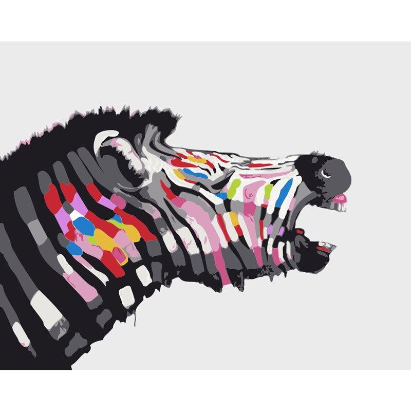 สัตว์ม้าลายภาพวาดDIYโดยตัว