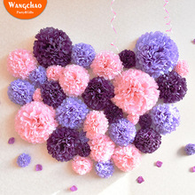Mixed Sizes 4/6/8/10inch Handmade Party Decoration Flower Balls DIY Paper Pom Hanging Baby Shower Wedding Decorations