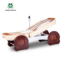 JinKaiRui Electric Jade Thermal Therapy Massage Bed Chair Shiatsu Massagem Spinal Correction Muscle Stimulator Spa Pain Relief