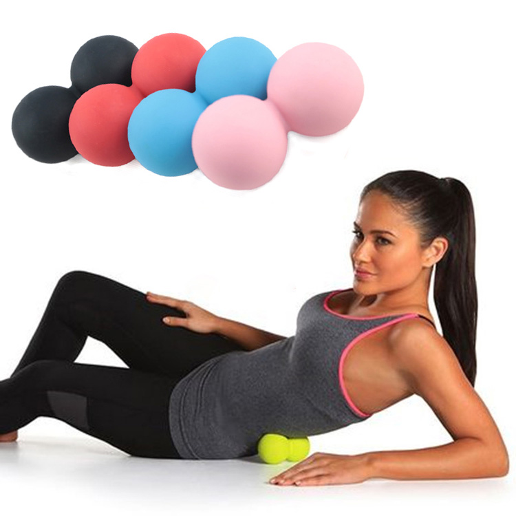 цена на Solid Massage Ball Elastic Silicone Peanut Massager Back Leg Neck Arm Release Roller Gym Sport Yoga Excise -27