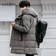 Gersri New arrival Winter jacket men brand clothing cotton thick long coats Male male quality Casual fashion Clothing